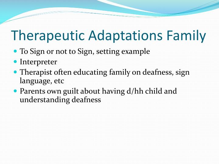 Therapeutic Adaptations Family