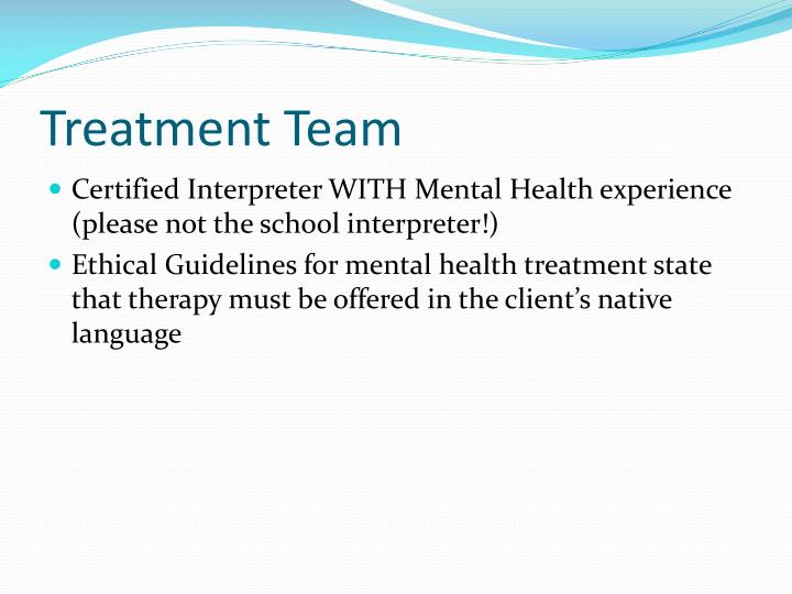 Treatment Team