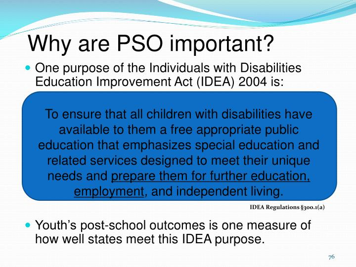 Why are PSO important?