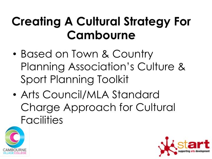 Creating A Cultural Strategy For Cambourne