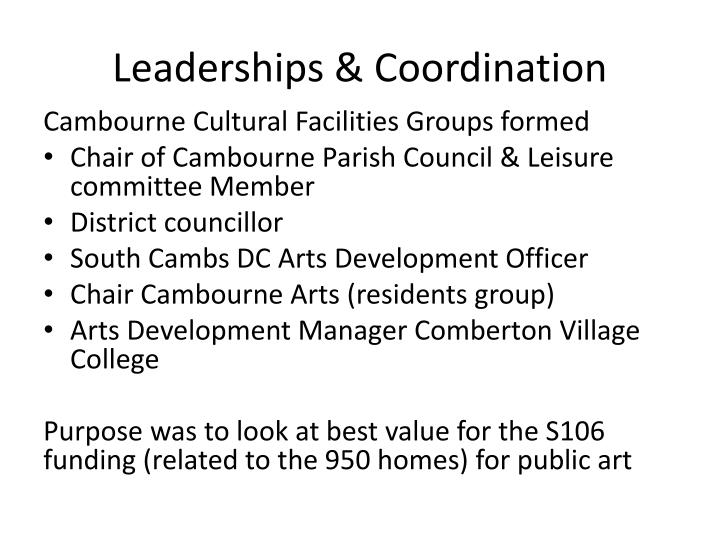 Leaderships & Coordination