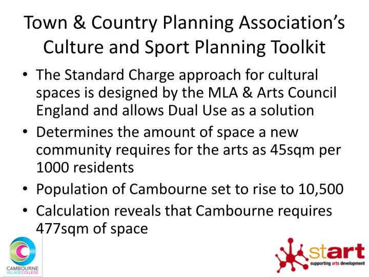 Town & Country Planning Association's Culture and Sport Planning Toolkit