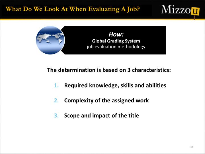 What Do We Look At When Evaluating A Job?