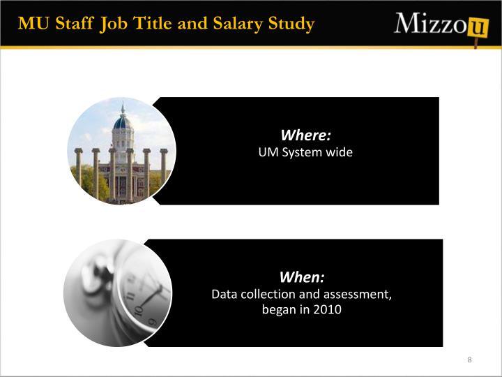 MU Staff Job Title and Salary Study