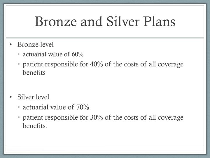 Bronze and Silver Plans