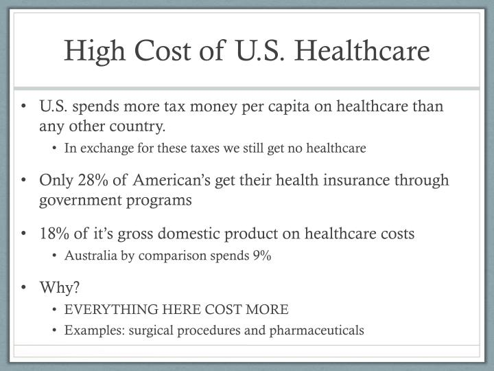 High Cost of U.S. Healthcare