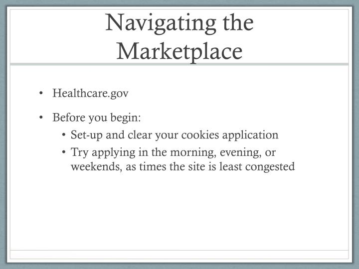 Navigating the Marketplace