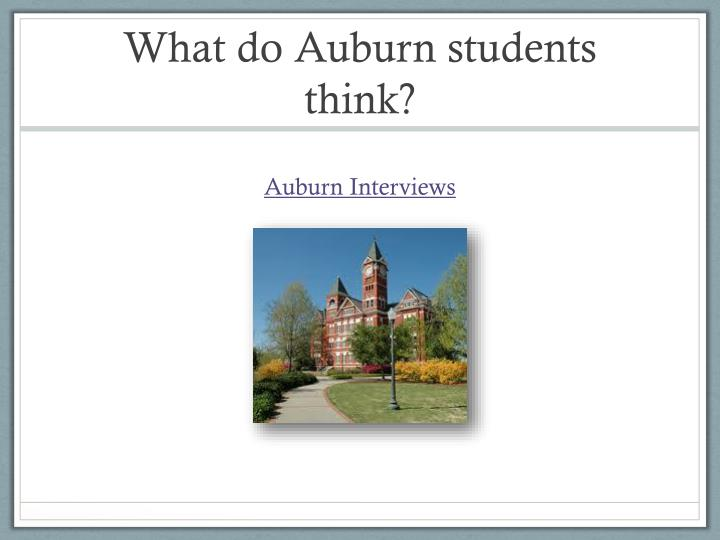 What do auburn students think