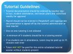 tutorial guidelines1