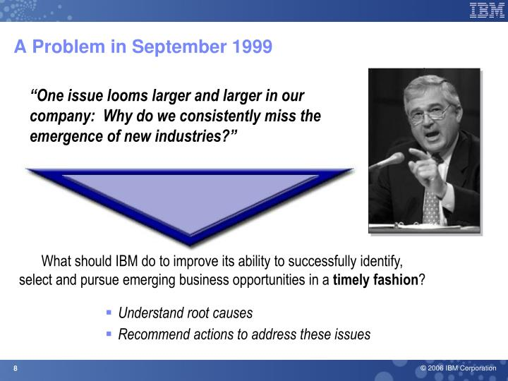 A Problem in September 1999