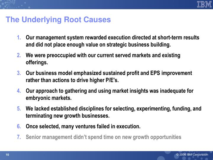 The Underlying Root Causes