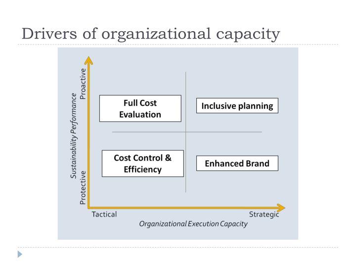 Drivers of organizational capacity