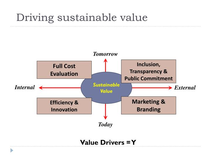 Driving sustainable value