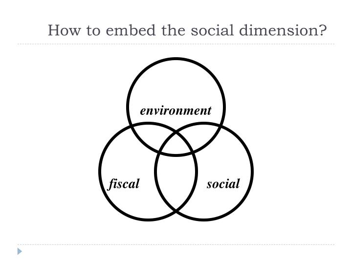 How to embed the social dimension?