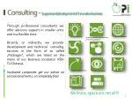 consulting support and development of innovative business