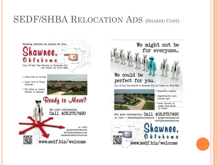 SEDF/SHBA Relocation Ads