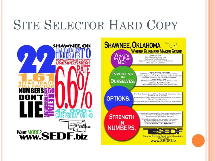 Site Selector Hard Copy