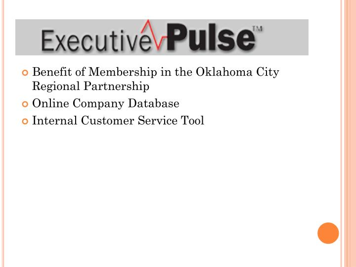 Benefit of Membership in the Oklahoma City Regional Partnership