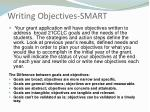writing objectives smart