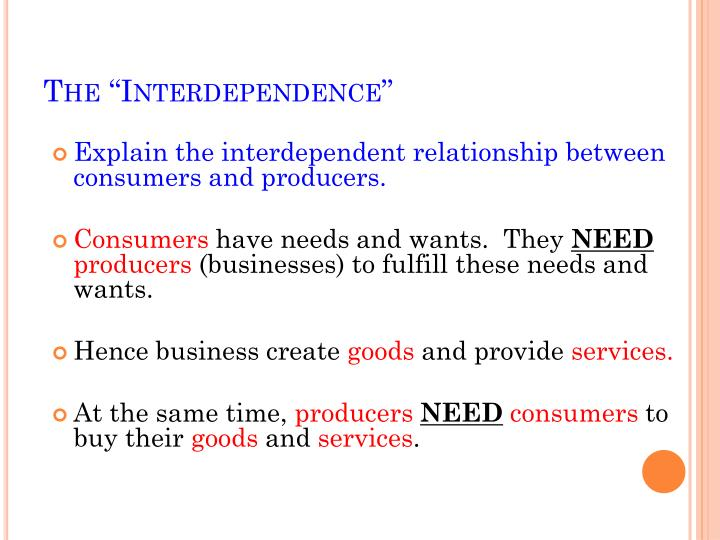 """The """"Interdependence"""""""