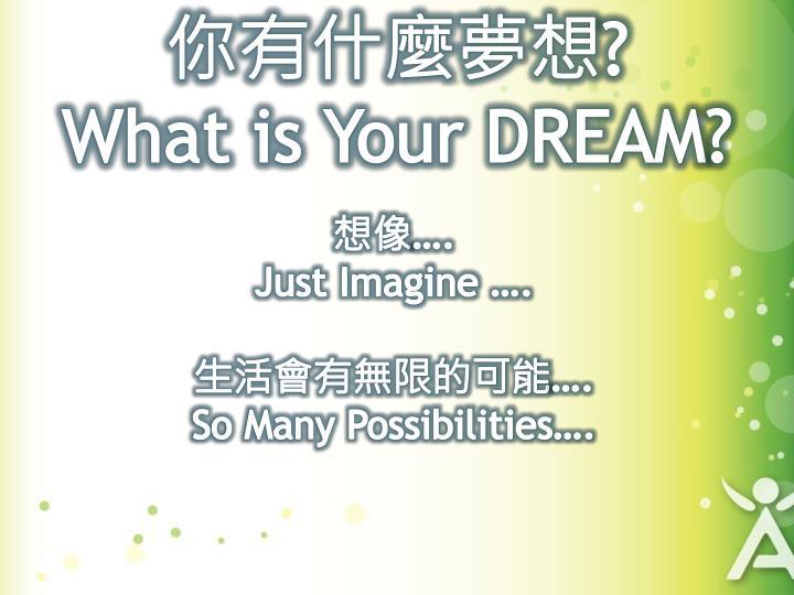 你有什麼夢想