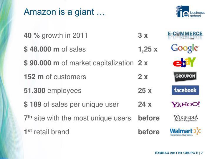 Amazon is a giant …