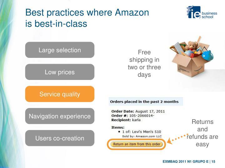 Best practices where Amazon