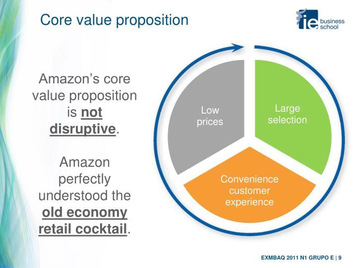 Core value proposition