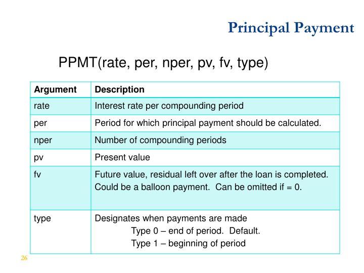 Principal Payment