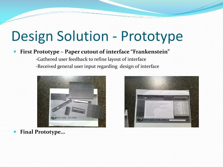 Design Solution - Prototype