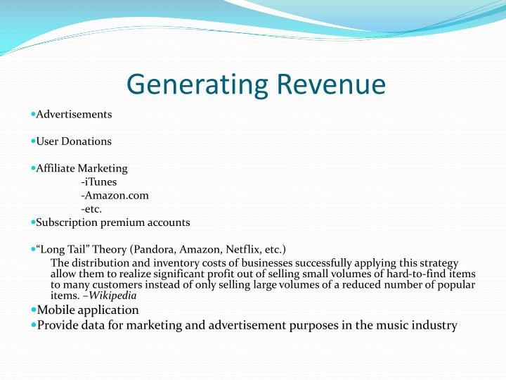 Generating Revenue