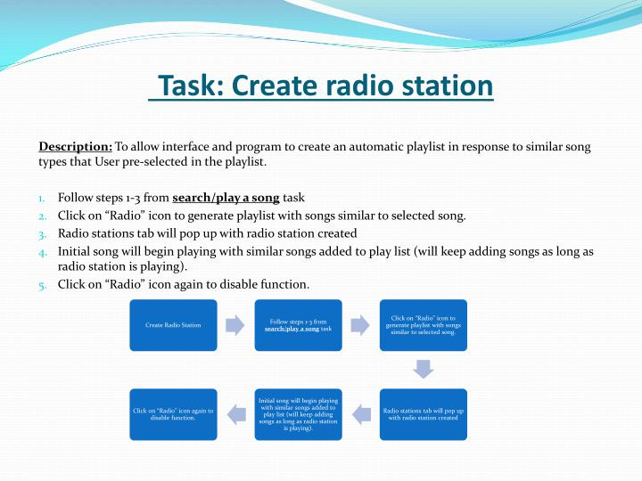 Task: Create radio station
