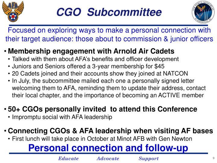 CGO  Subcommittee