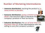 number of marketing intermediaries