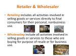 retailer wholesaler