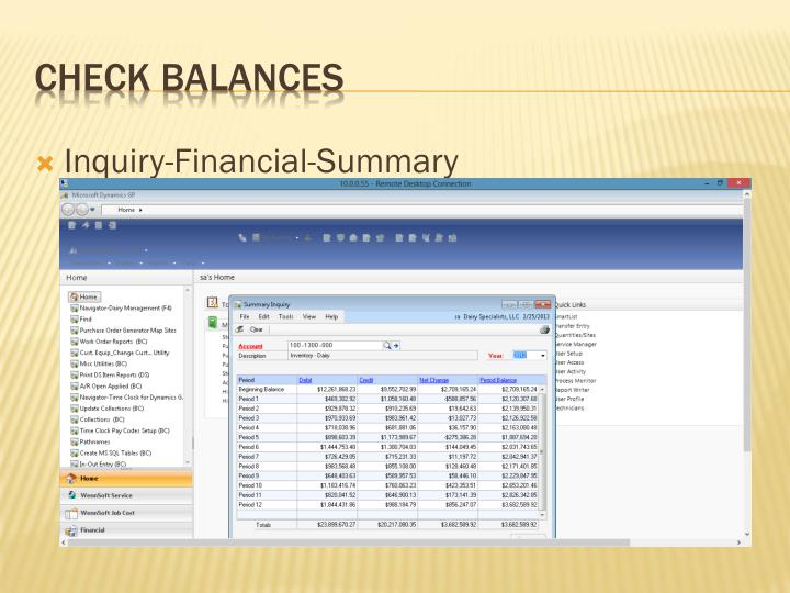 Inquiry-Financial-Summary