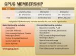 gpug membership