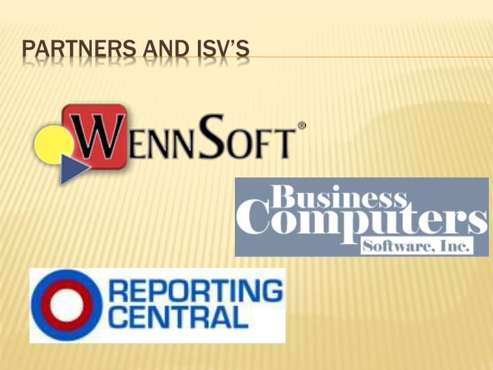 Partners and isv's