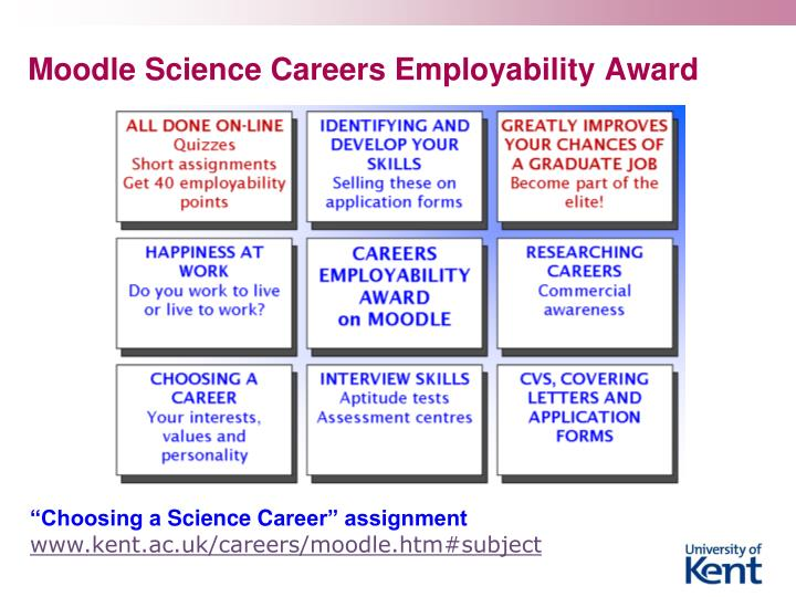 Moodle Science Careers Employability Award