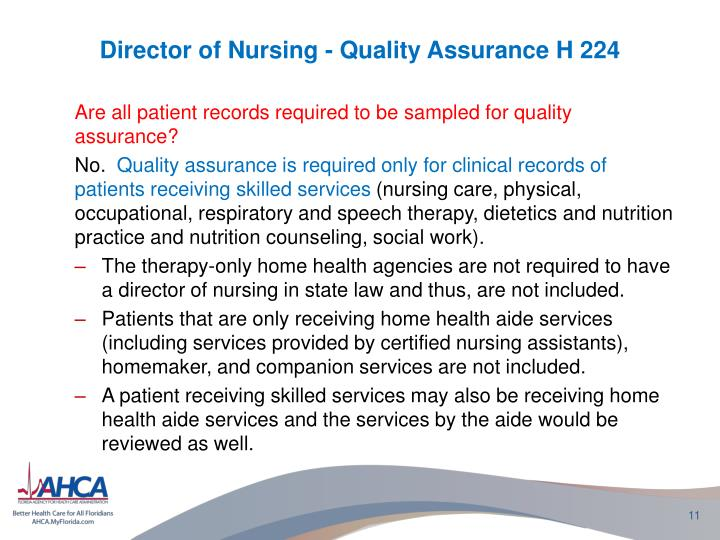 nursing quality assurance Access data related to health quality, reports related to health quality, and meetings, conferences, and webinars related to health quality.