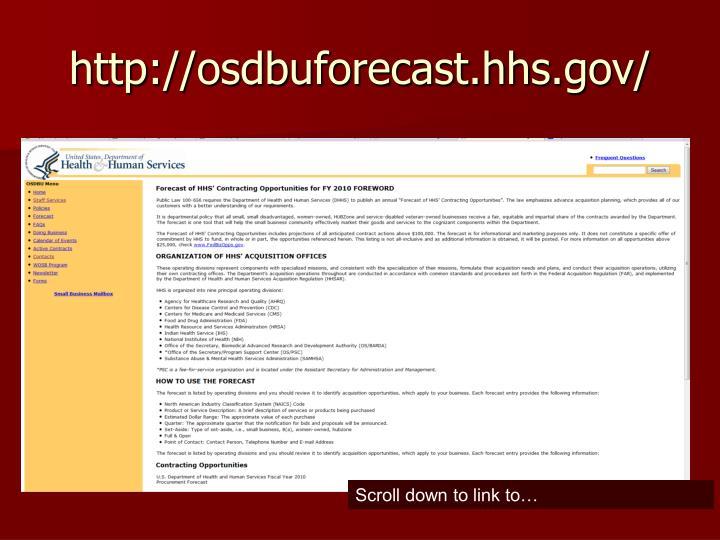 http://osdbuforecast.hhs.gov/