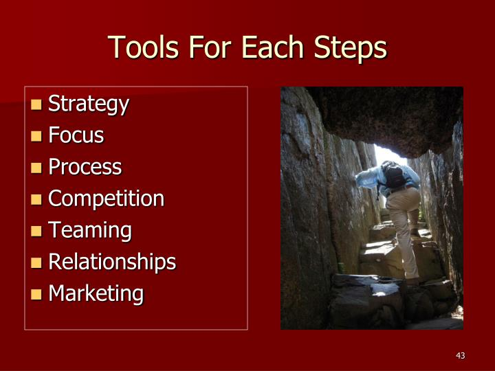 Tools For Each Steps
