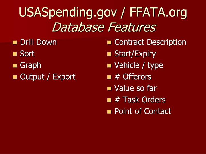 USASpending.gov / FFATA.org