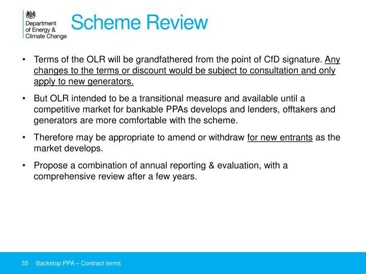 Scheme Review