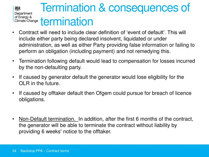 Termination & consequences of termination