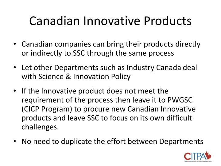 Canadian Innovative Products