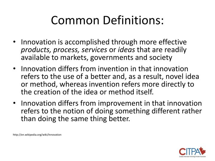 Common Definitions: