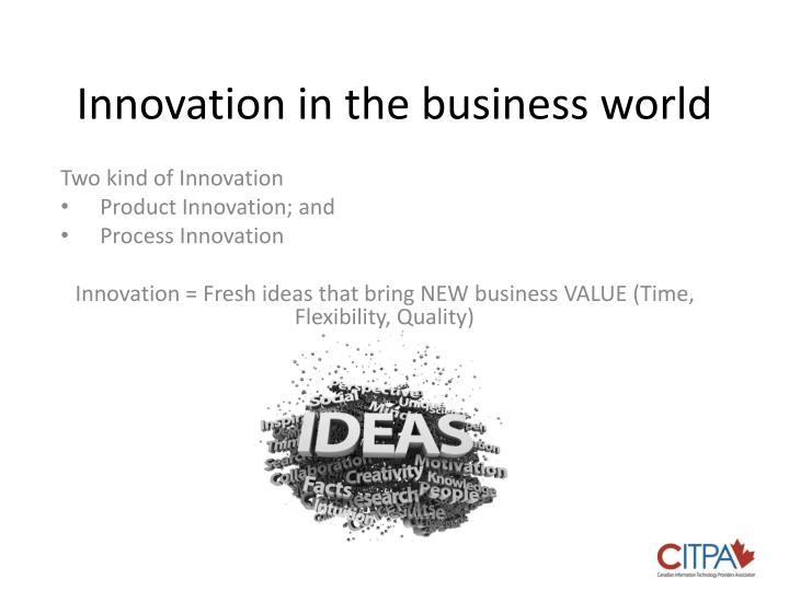 Innovation in the business world