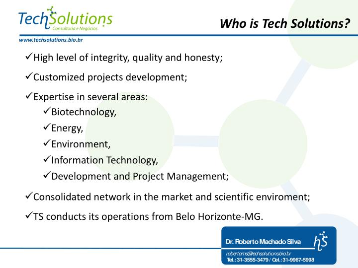 Who is Tech Solutions?