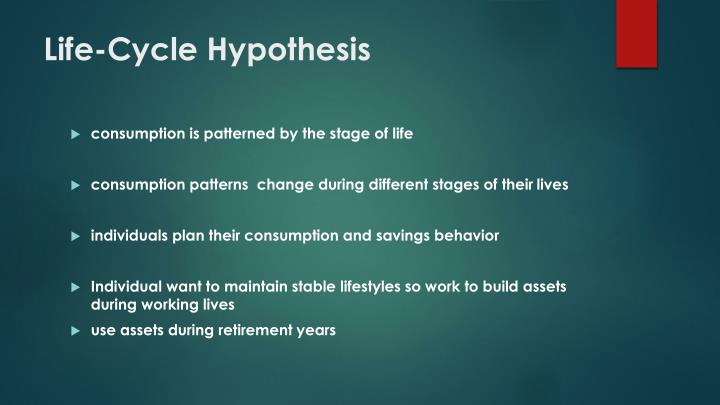 the life cycle hypothesis An easy overview of the life cycle hypothesis.
